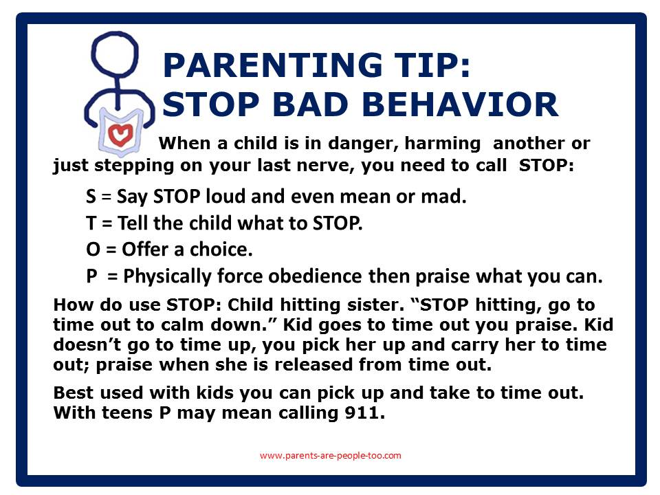 HOW TO STOP BAD BEHAVIOR | Parents Are People Too