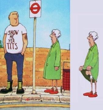 Granny flasher.