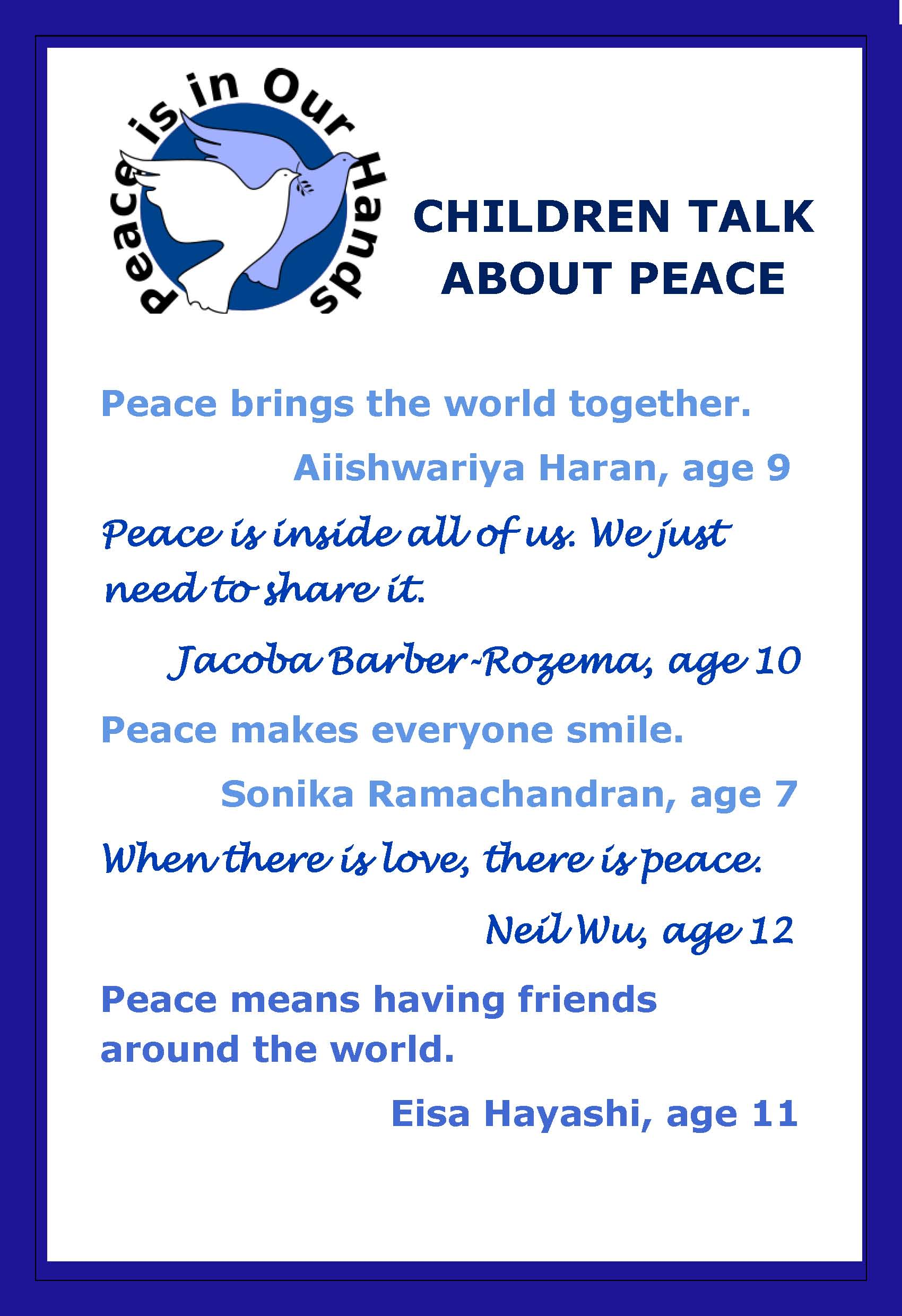 Peace Quotes Children's Peace Quotes  Parents Are People Too