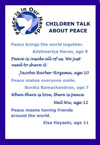 Children's quotes about peace