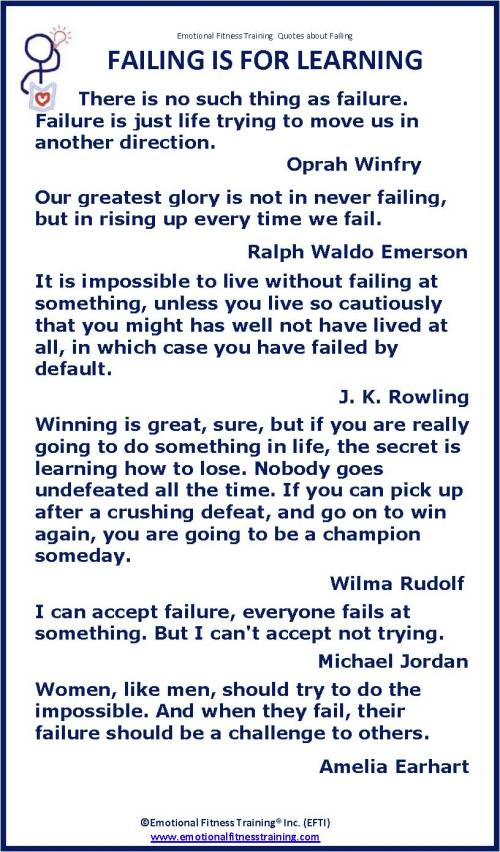 Quotes about failing