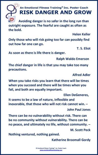 A Poster Coach about risk taking