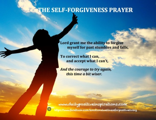 Self forgiveness prayer