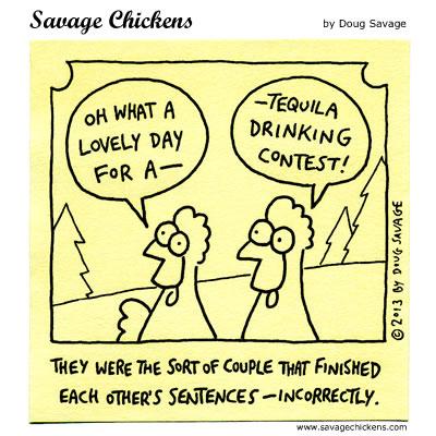 Savage Chicken Cartoon