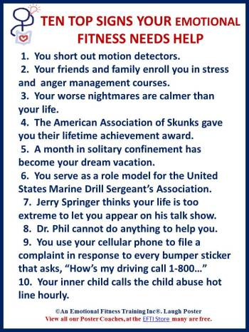 Ten signs you are too stressed