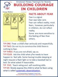 Fear control for children