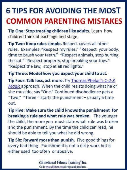 6 Parenting tips