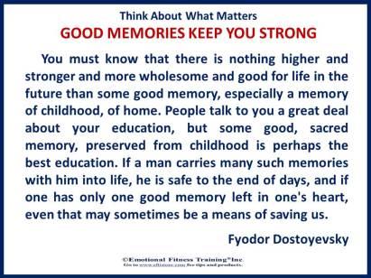 Good memories strengthen your #emotionalintelligence.