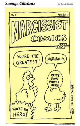 Cartoon about narcissim